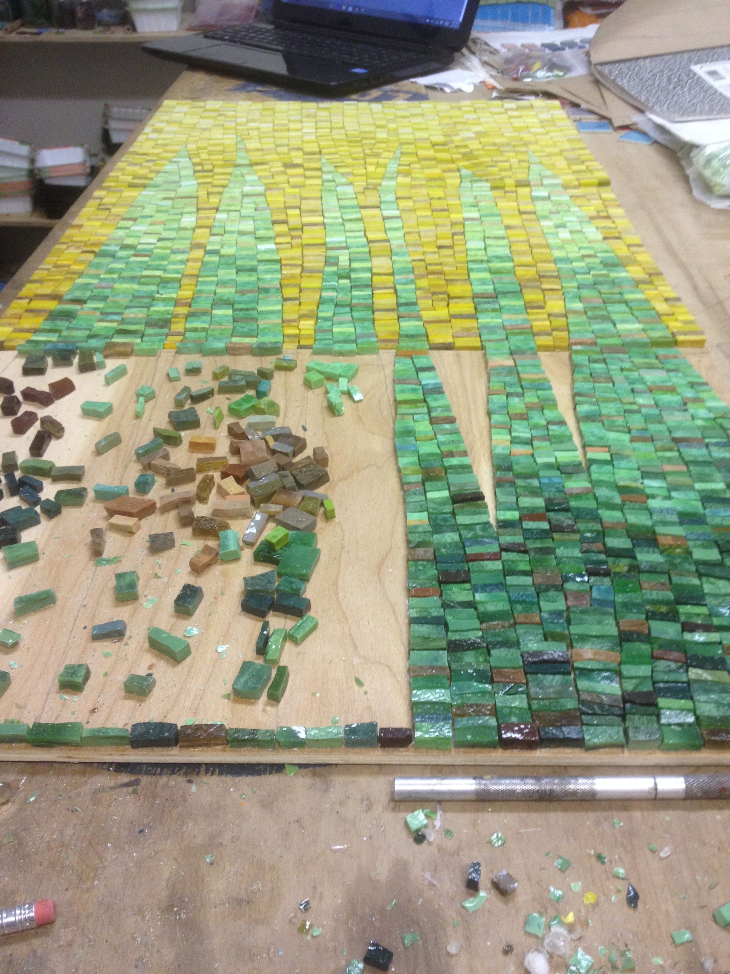 Custom mosaic in progress