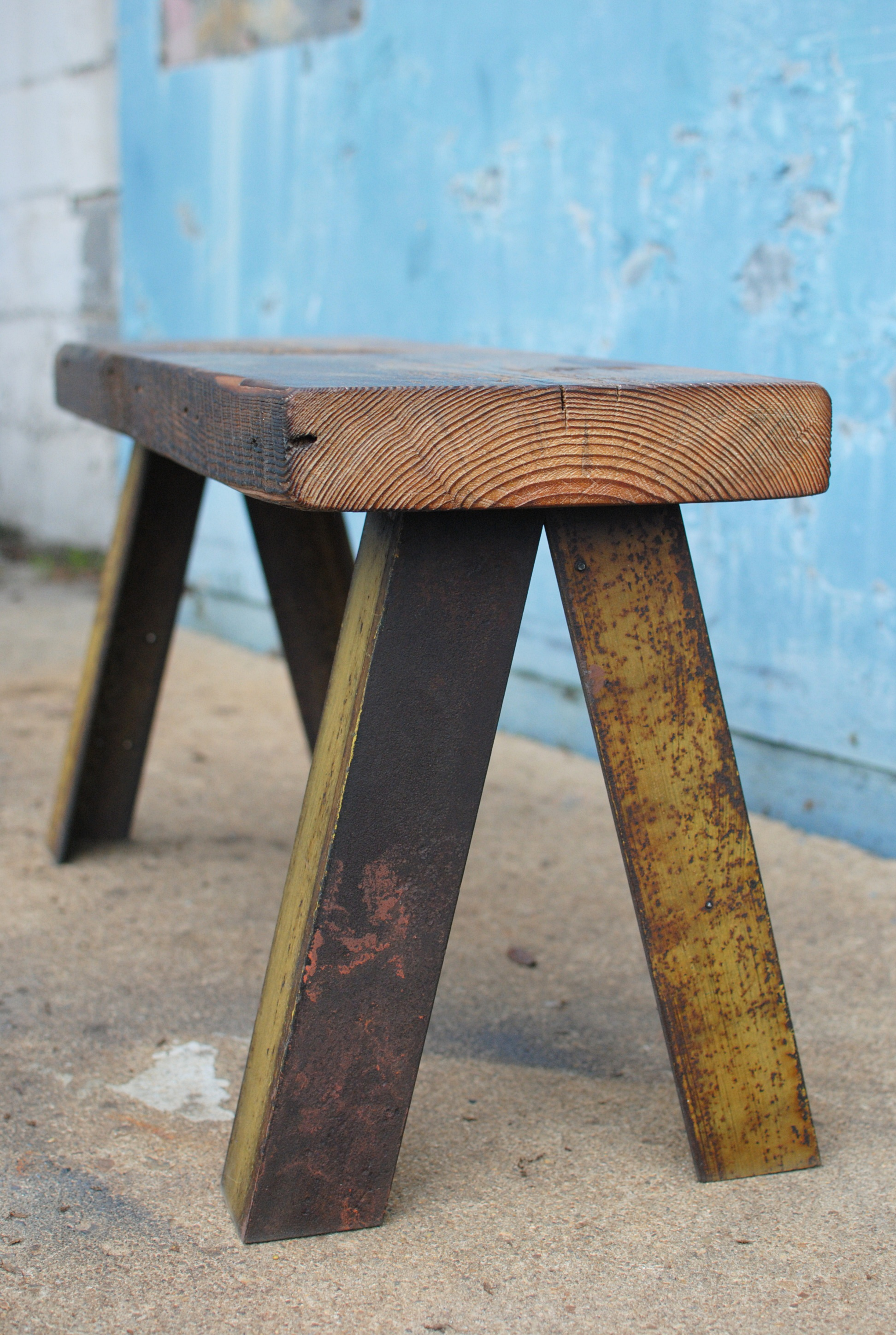 Shockoe Bench with steel base