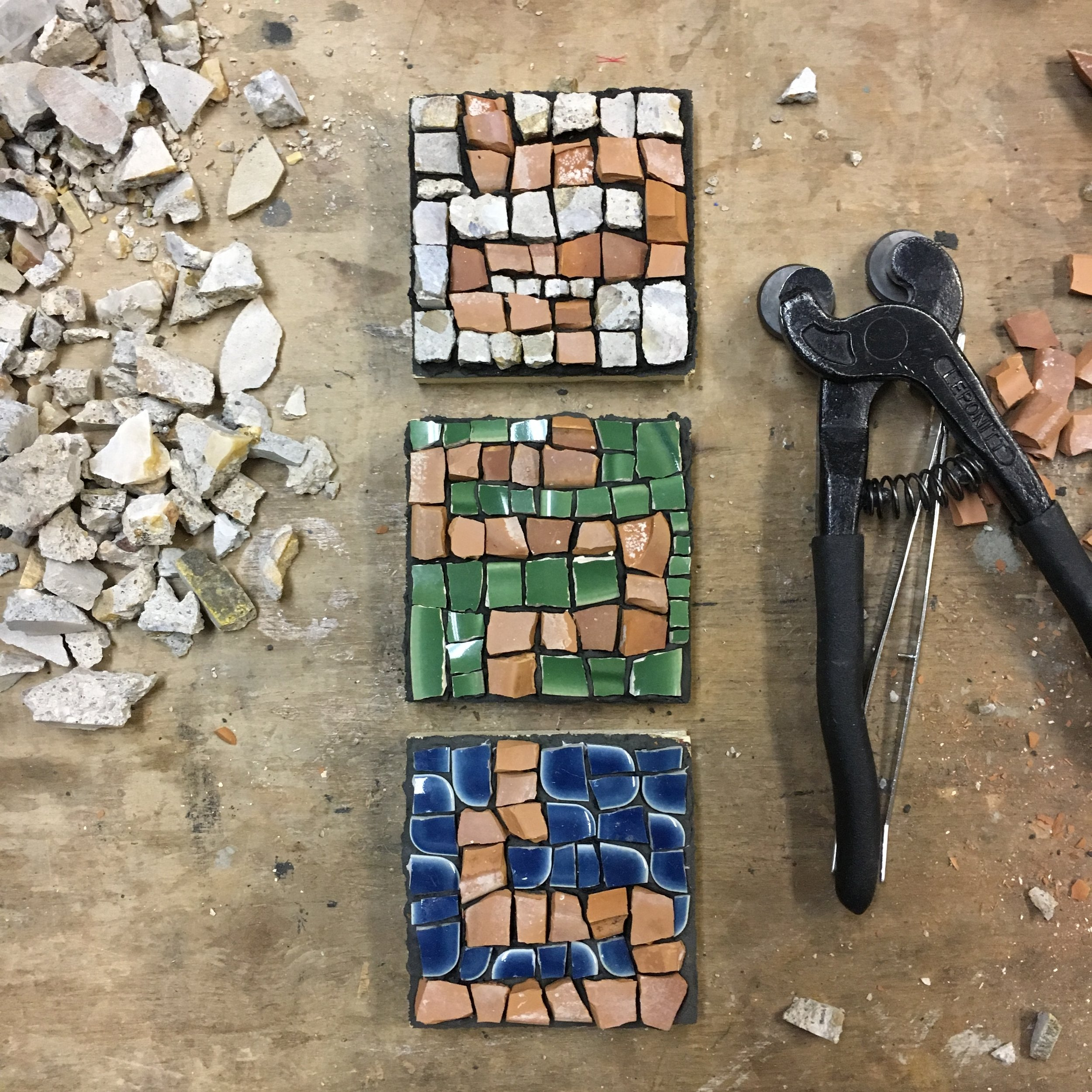 Trio of mini mosaics PH2016