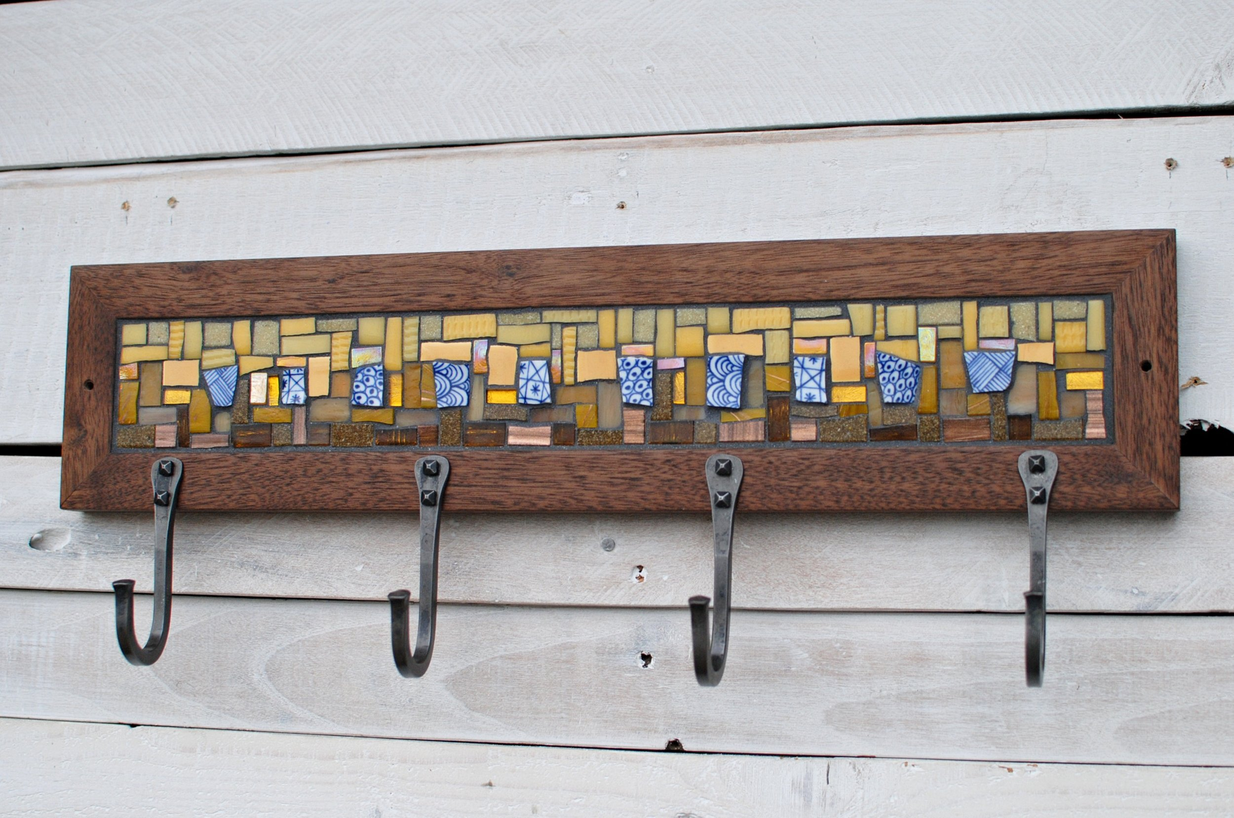 Yellow mosaic coat rack PH2016
