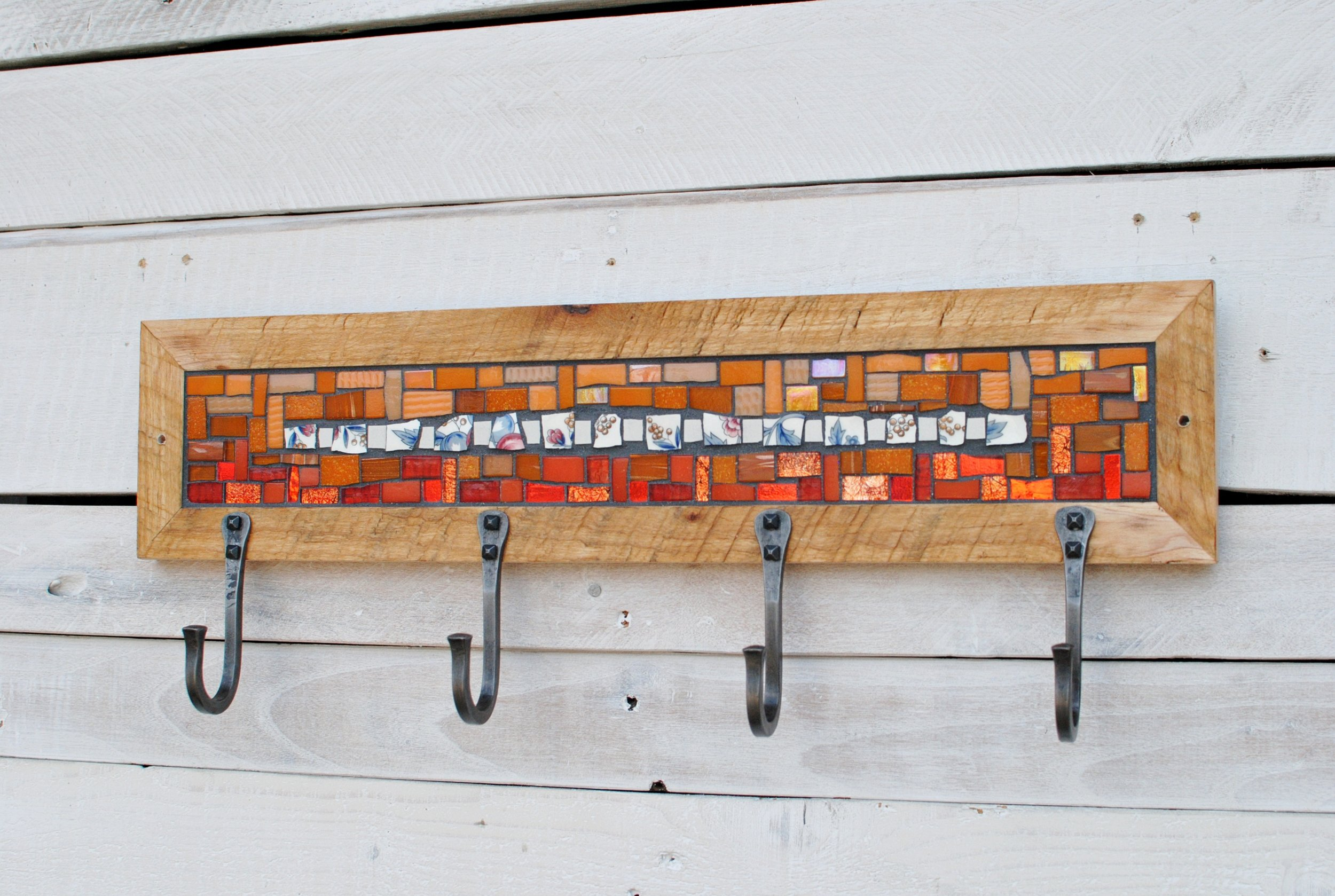 Orange mosaic coat rack PH2016