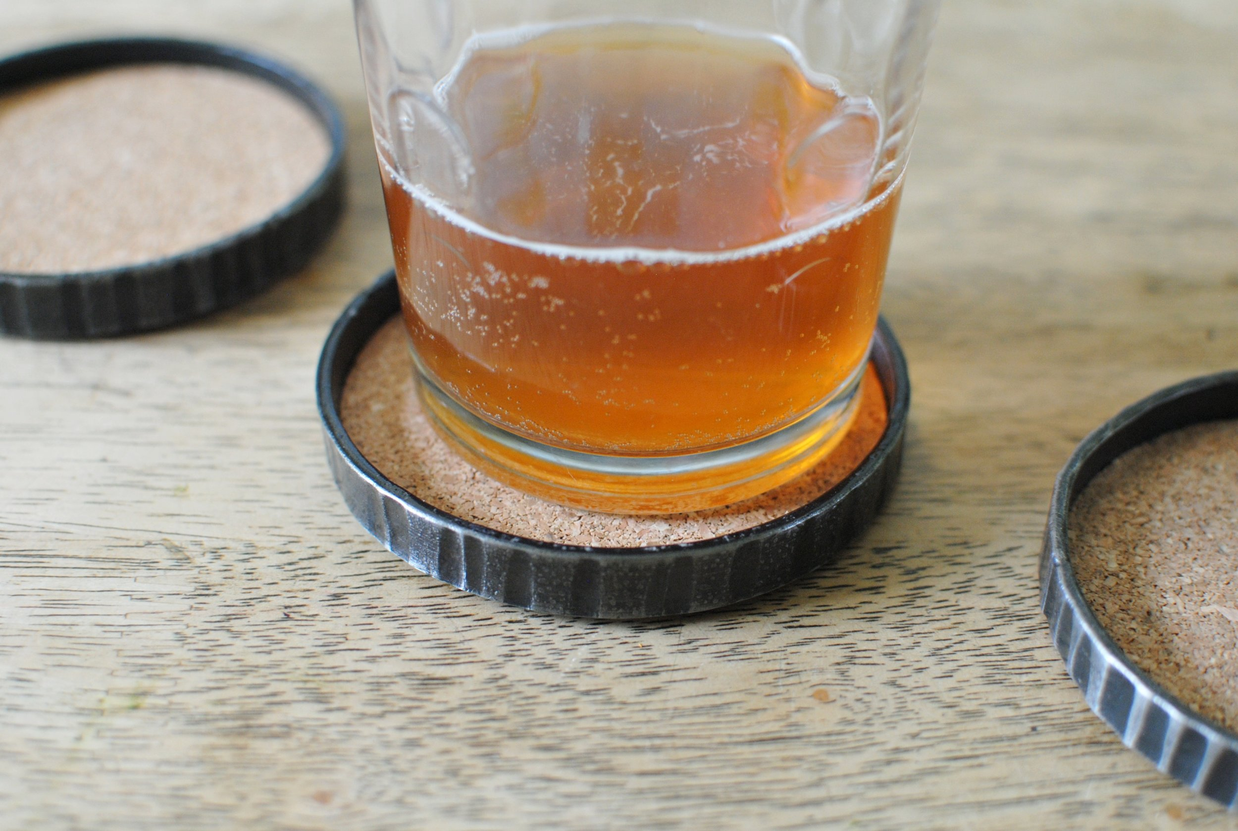 Forged drink coasters by Lucia Metal Studios