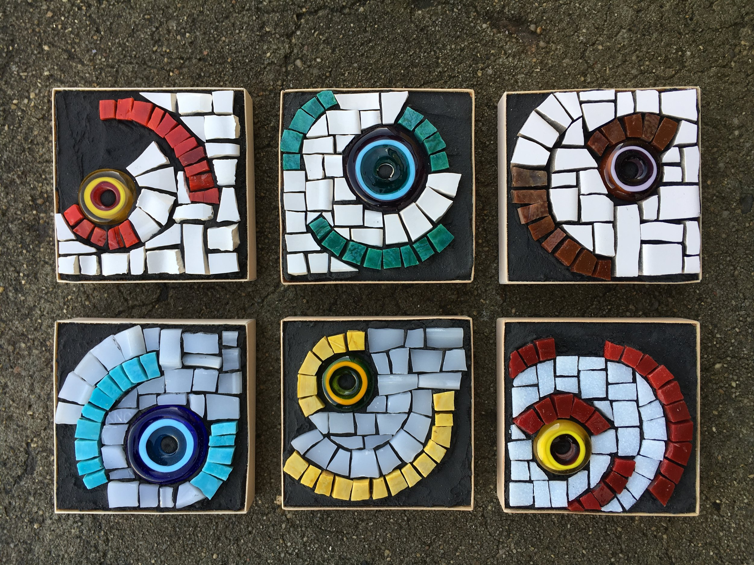 Glass bead mosaic series