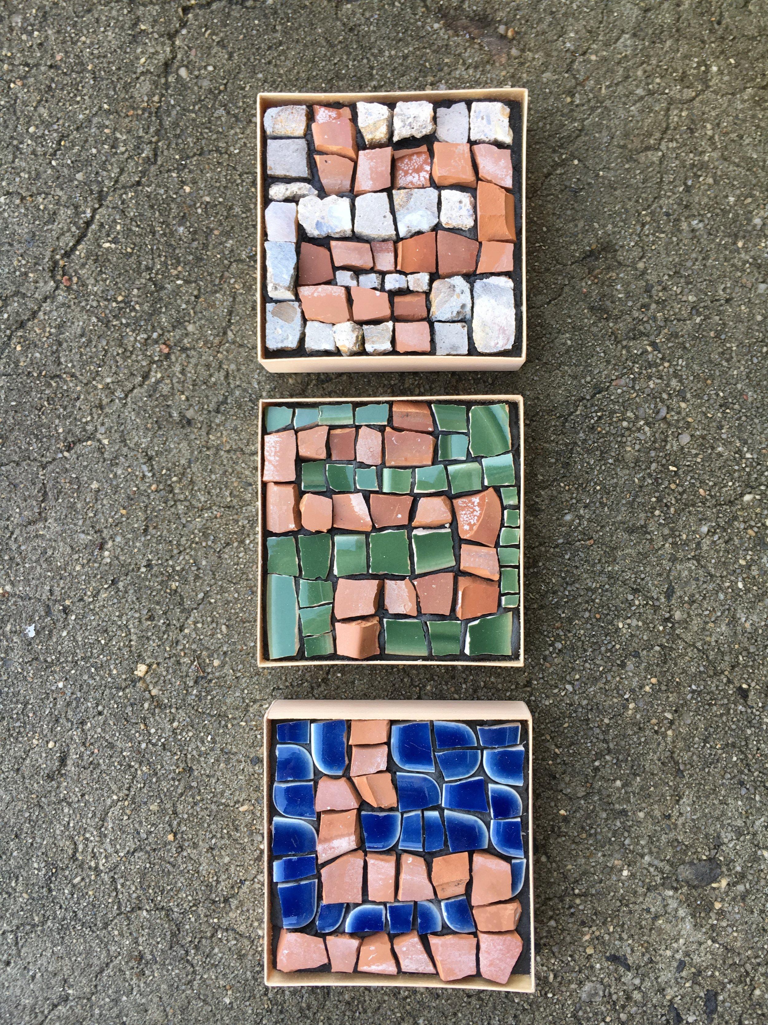 Terracotta mosaic series I
