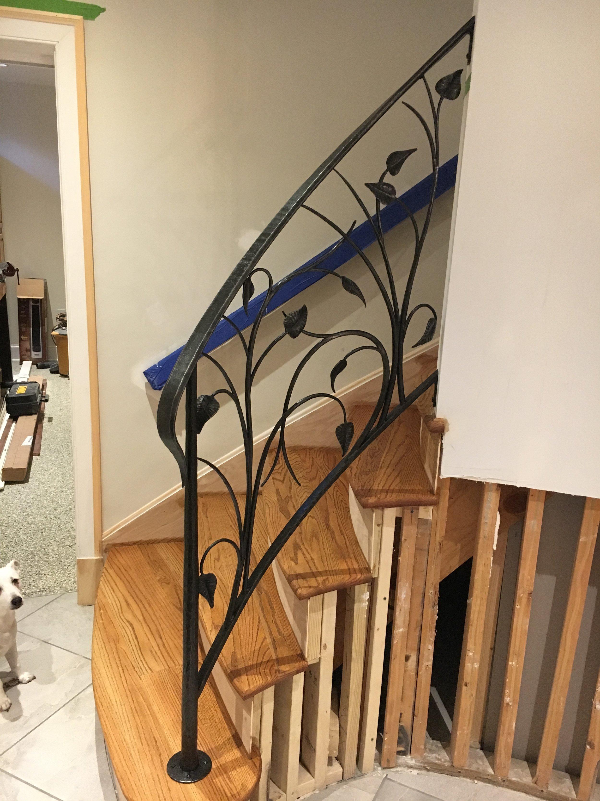 Leaf railing installed PH2017