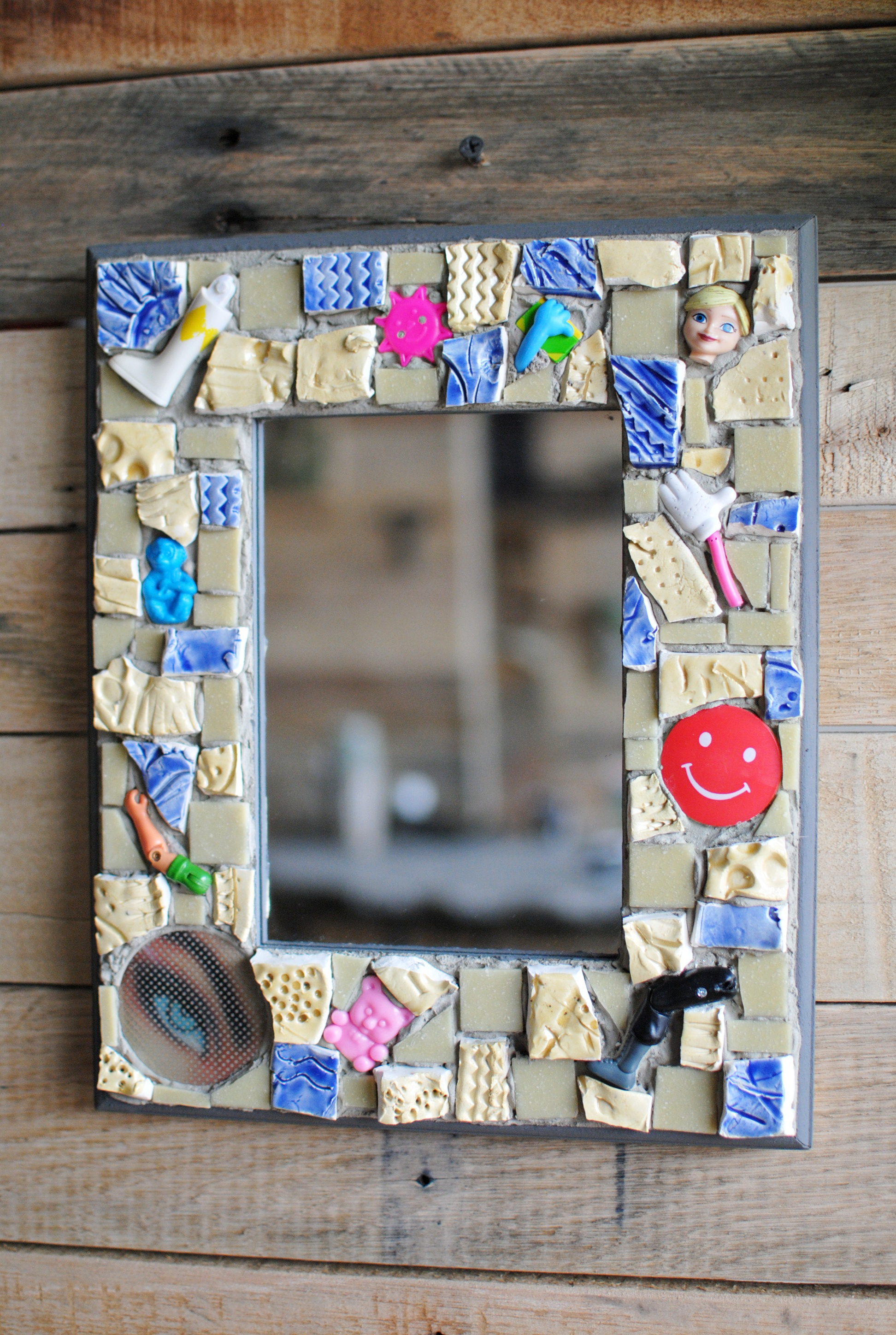"""Miscellaneous Parts"" mosaic mirror"