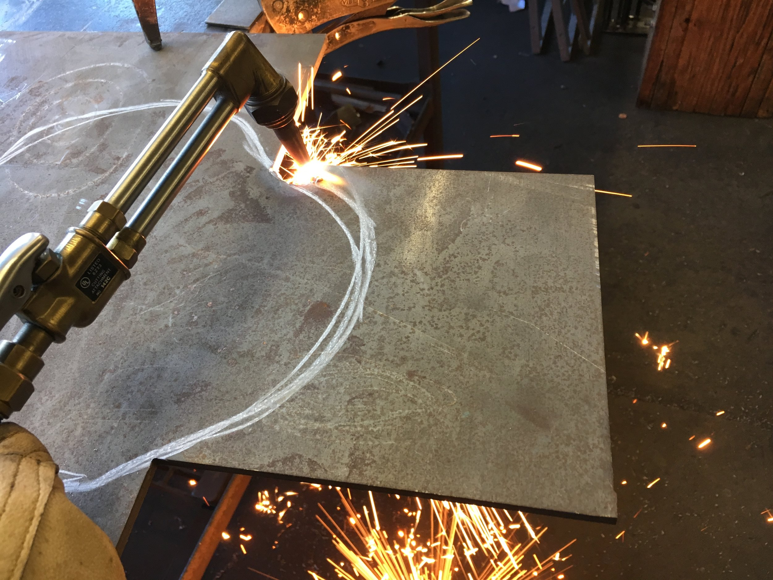 Cutting sculpture base