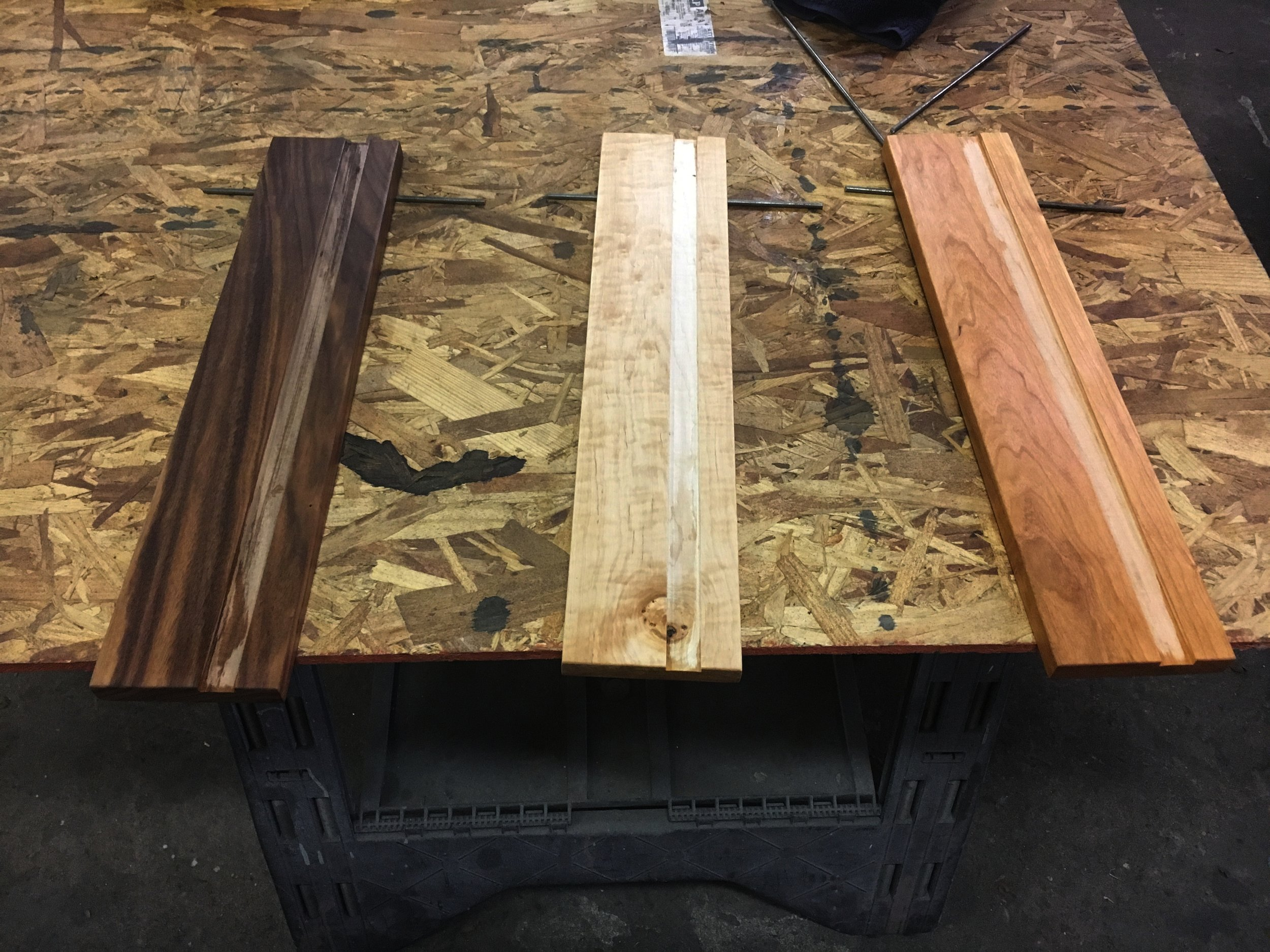 Wood frames for new mosaic coat pegs