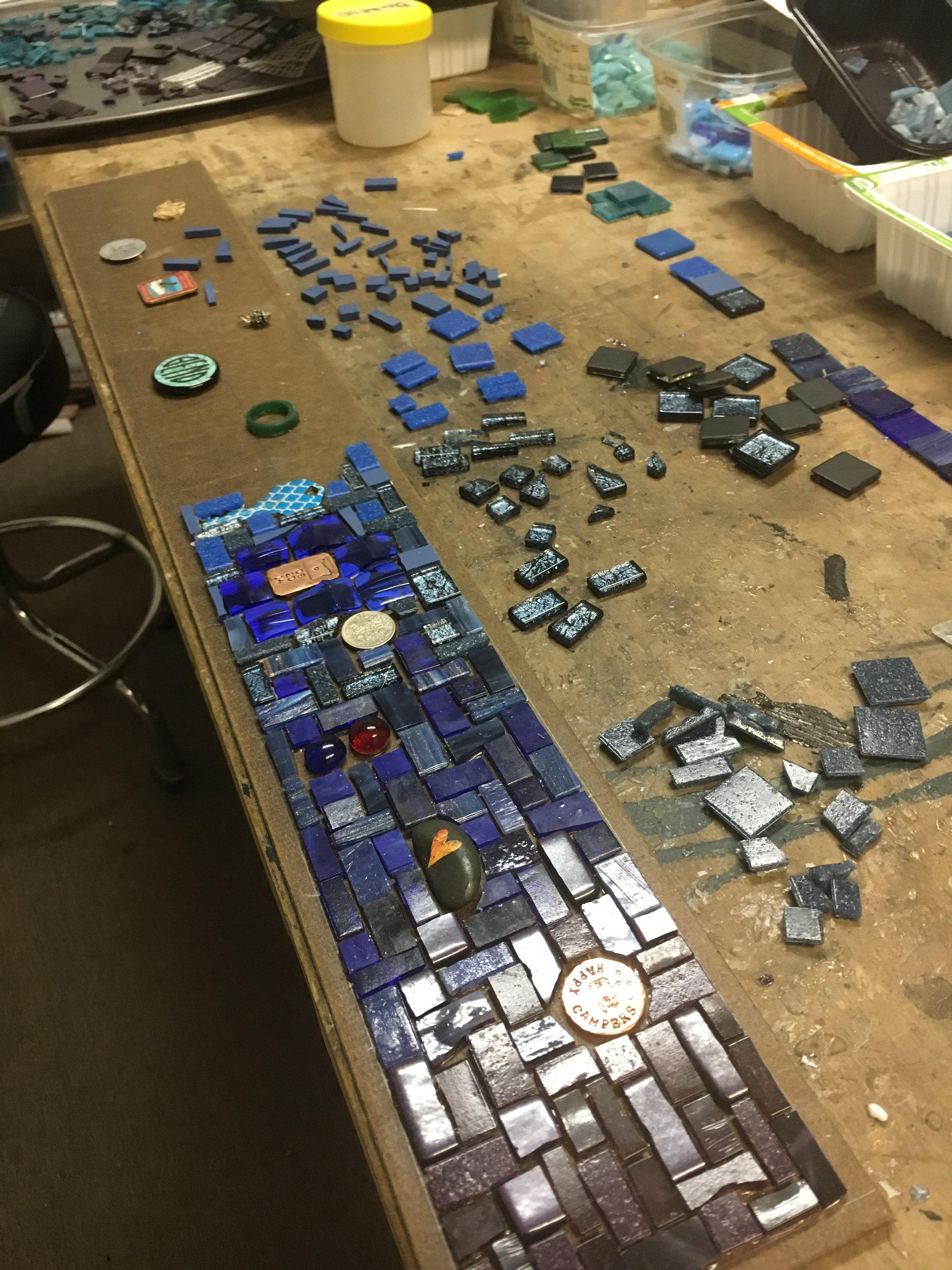 Mosaic with mementos