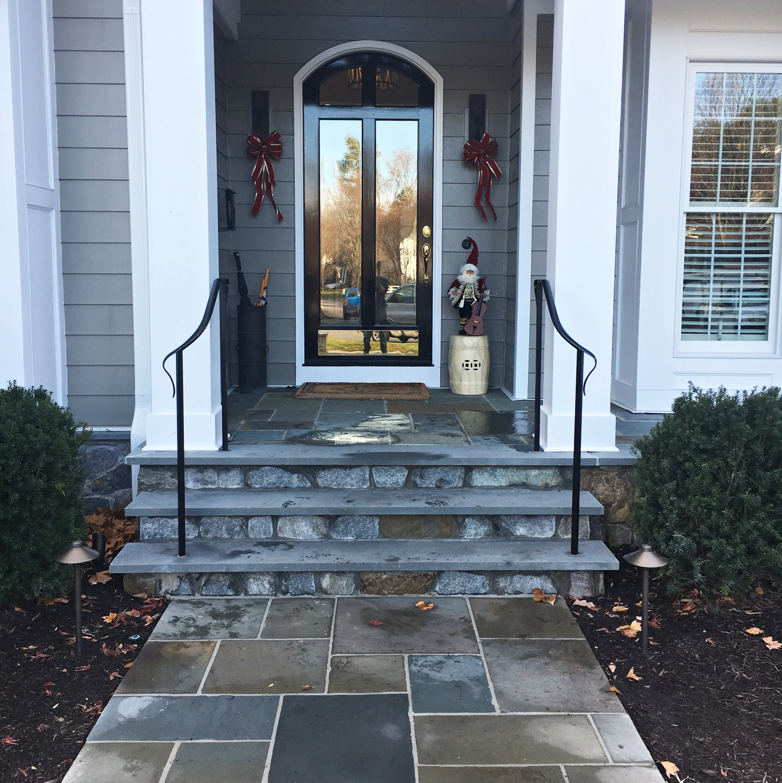 Front exterior hand rail