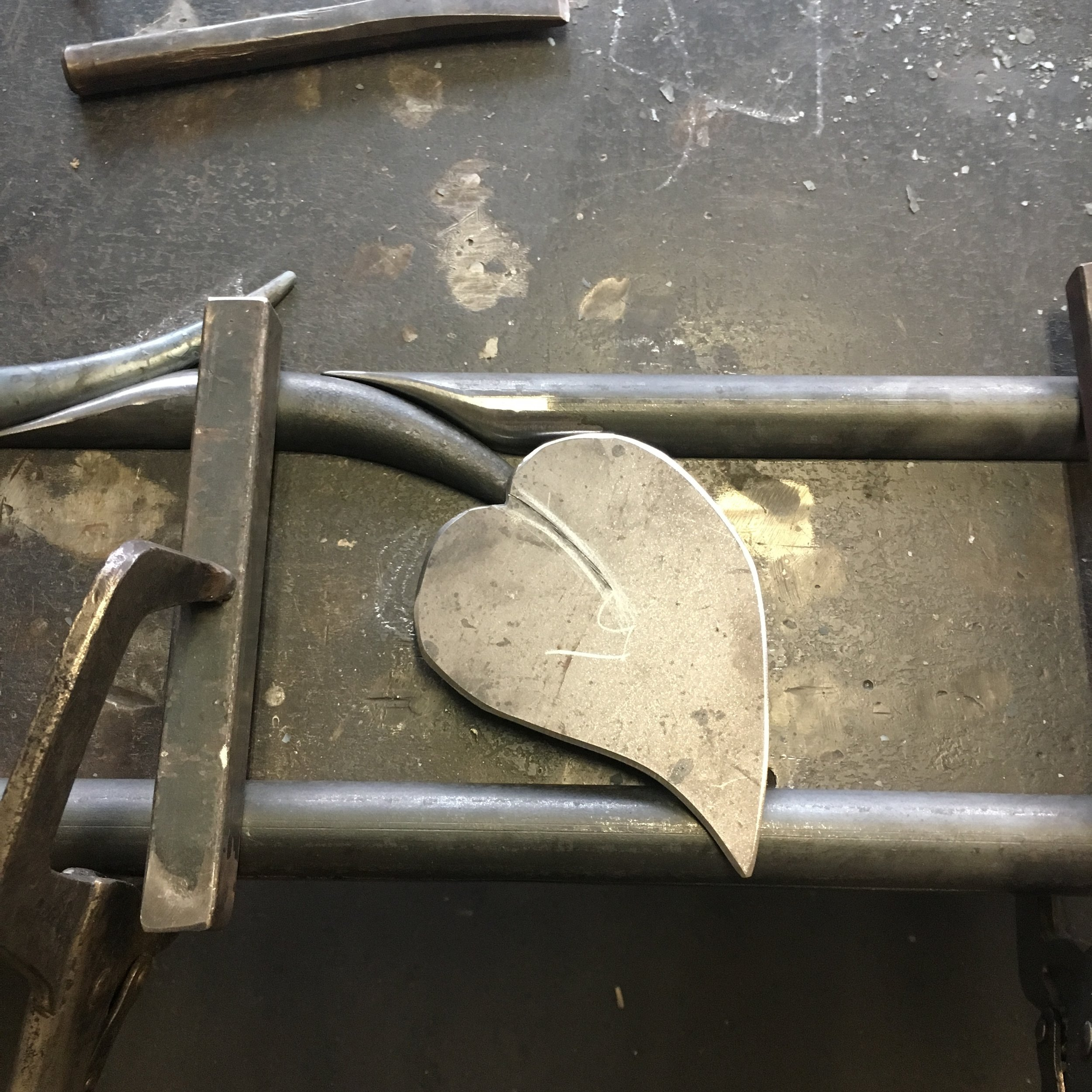 Forged leaf steel blank
