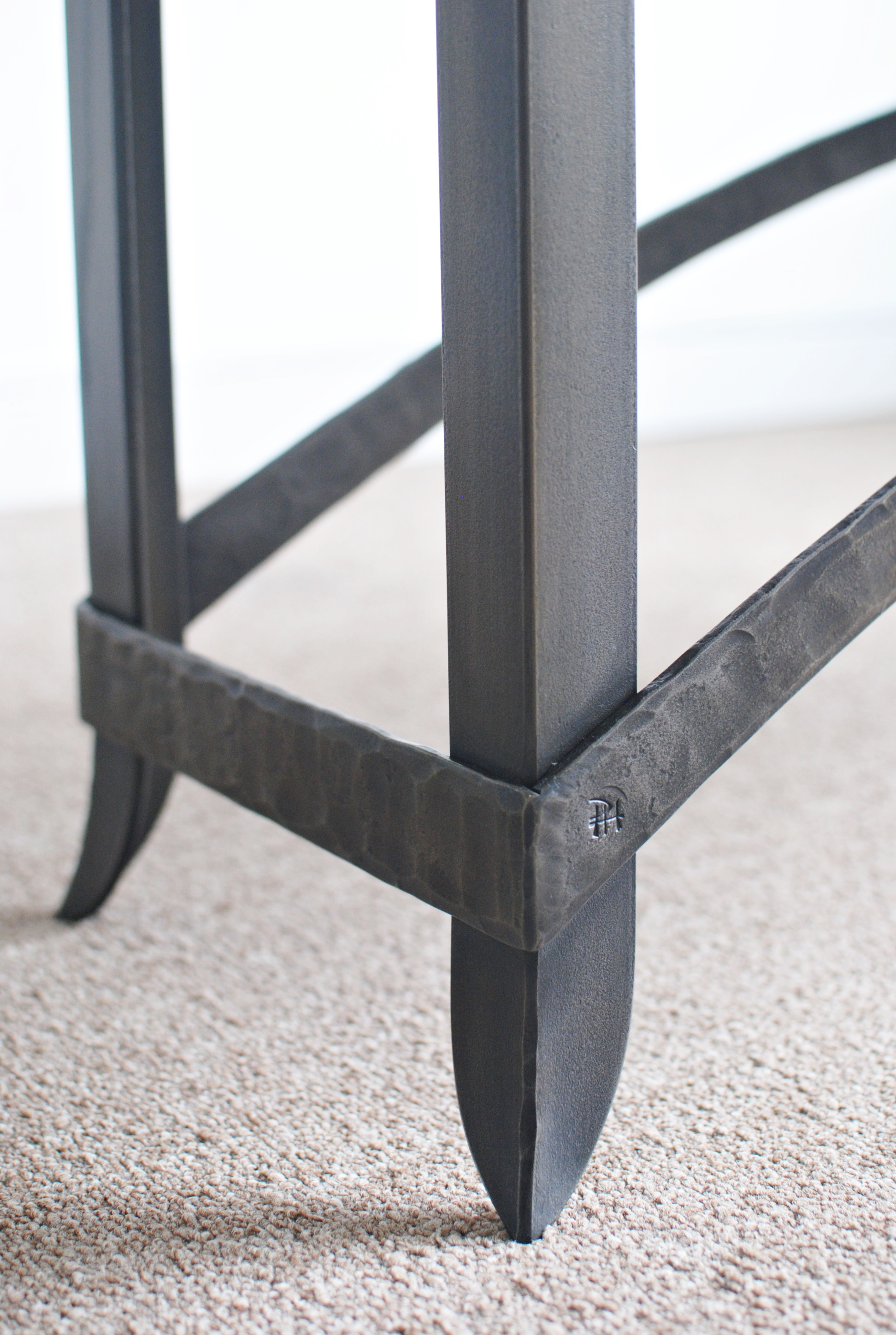 Forged bench detail