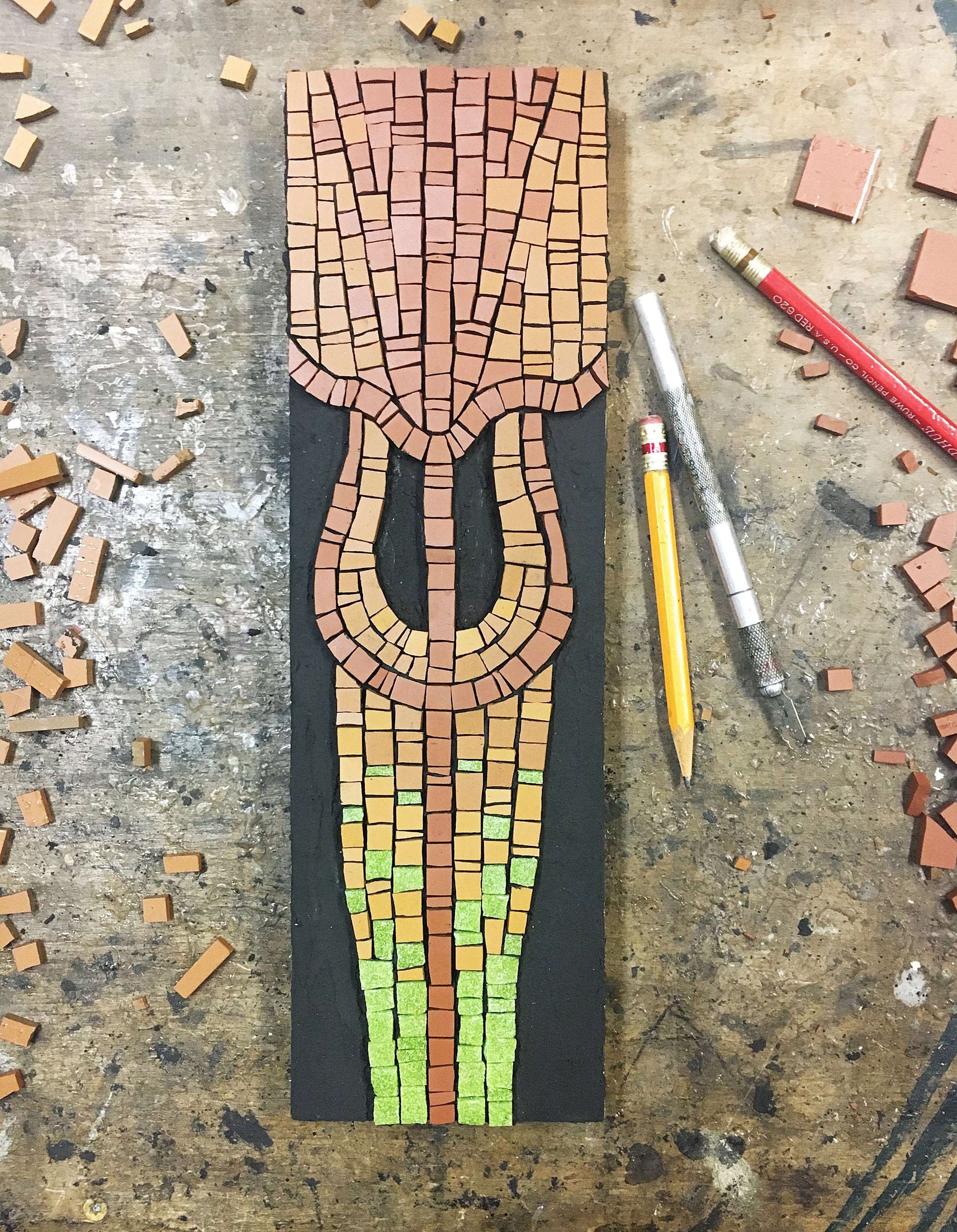 Pitcher plant original art mosaic