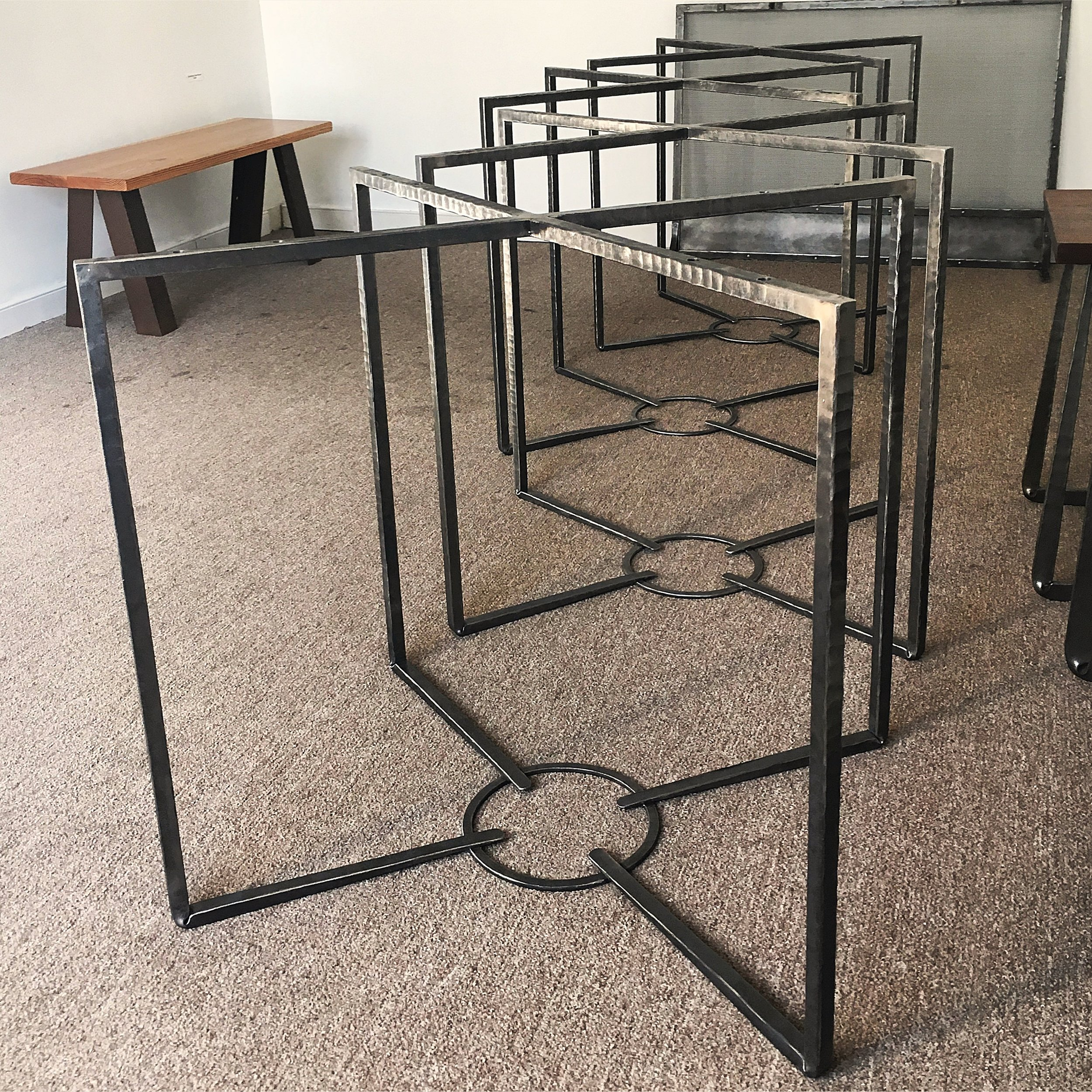 Forged steel table bases