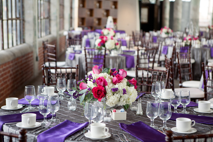 Fete By Design - Silver and Purple Wedding - Lofts at Union Square Wedding