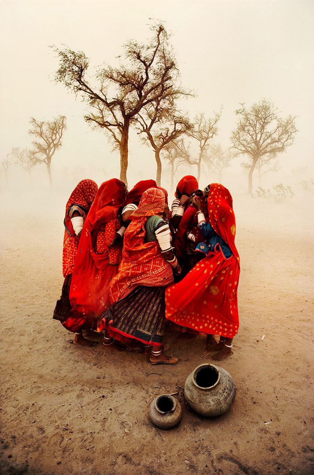 """Dust Storm"",Rajasthan, India. © Steve McCurry"