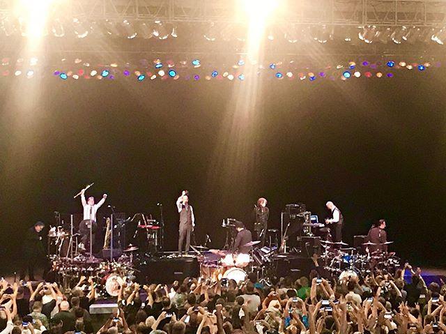King Crimson at The Greek last night was incredible. And backed (or fronted) by three amazing drummers! #kingcrimson #tonylevin #robertfripp #fripp #gavinharrison #progrock #progressiverock #livemusic #thegreek