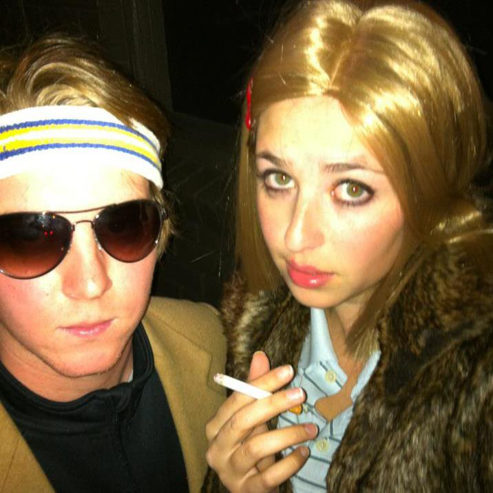 with Andy as Richie & Margo Tennenbaum