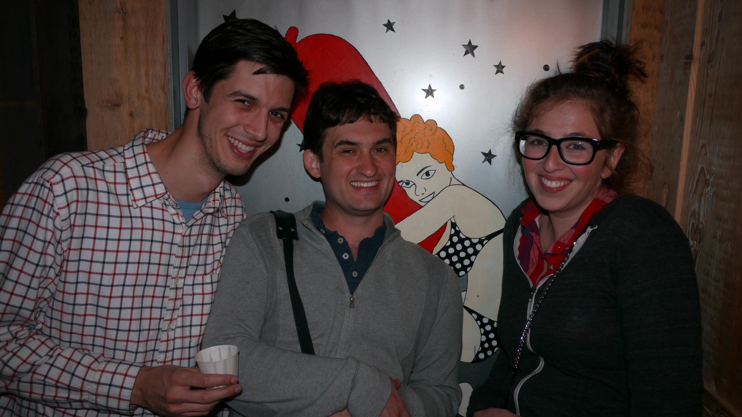 with Josh & Hunter before seeing Man Man at Williamsburg Music Hall!
