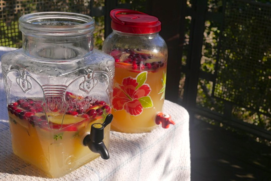 Nate and I made our favorite Apple Cider Sangria for Thanksgiving