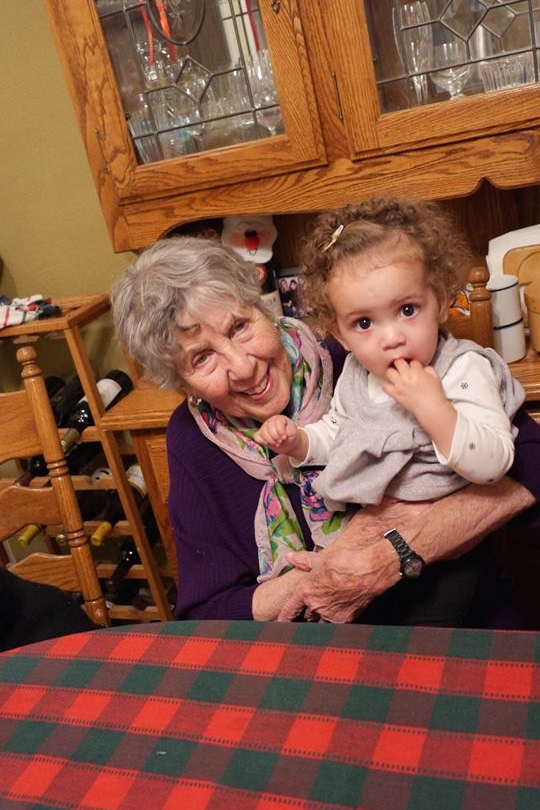 sweet picture of my Grandma Lila and niece Georgia