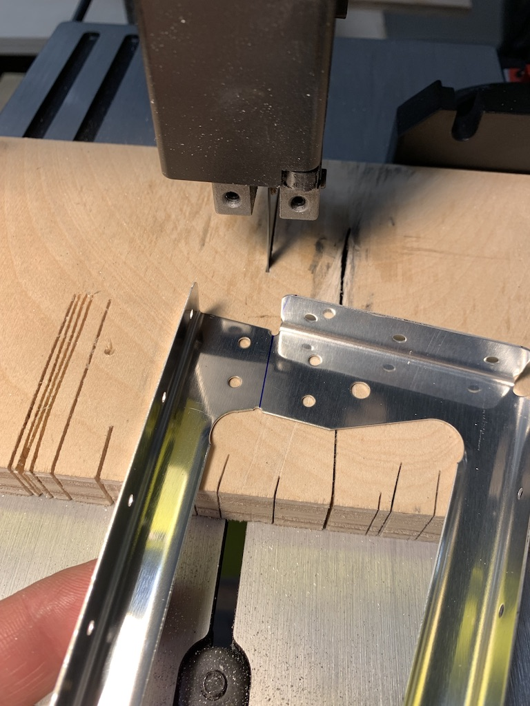 bandsaw to separate halfs