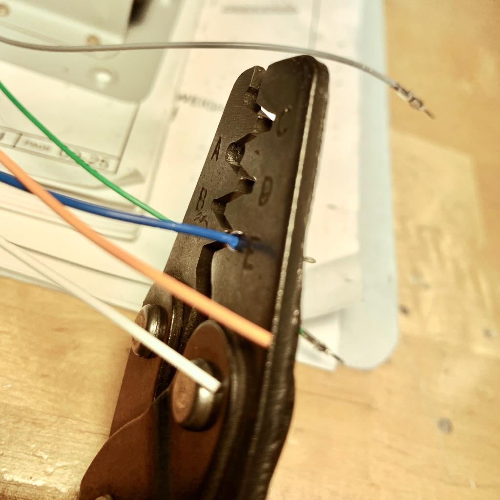 Crimp the wire portion