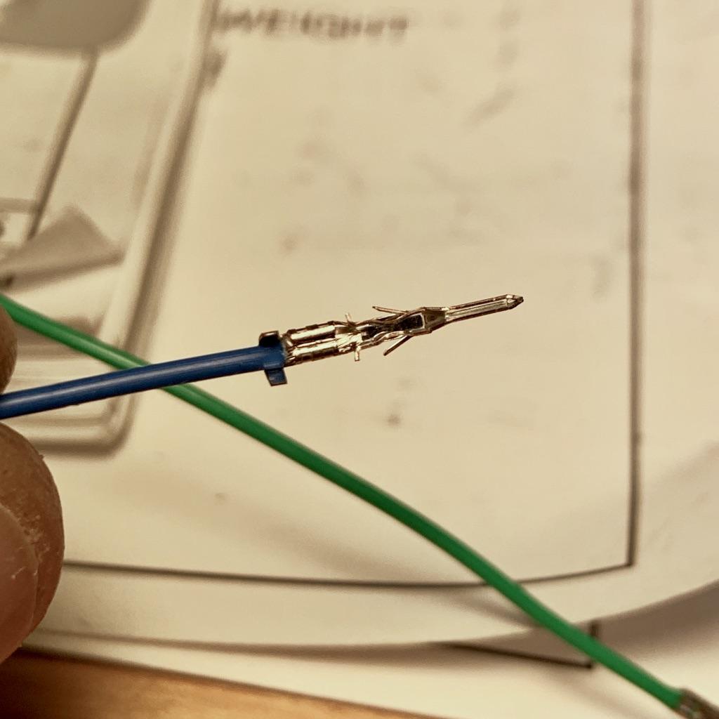 Wire crimped