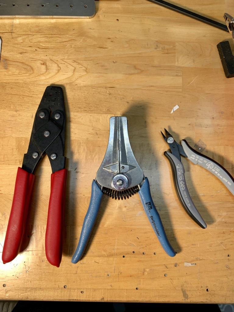 New tools from Stein Air (SAT-018 crimper, wirestripper, and snips)