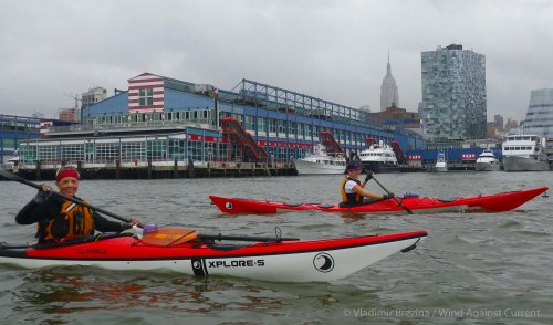 4. Hudson River: Chelsea Piers and the Empire State Building