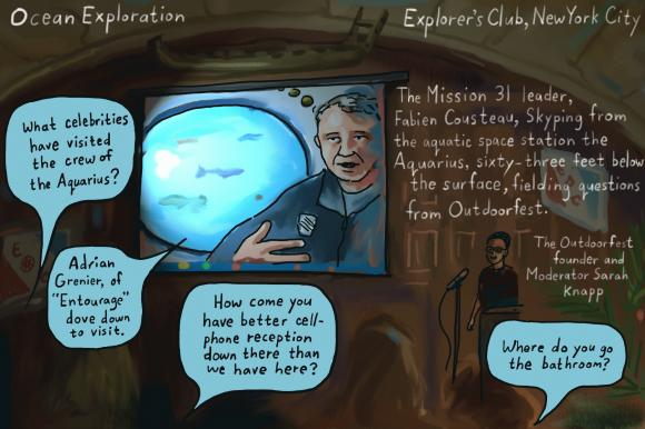 This was an historic event with   Mission 31  ,   Fabien Cousteau   and   The Explorers Club  !