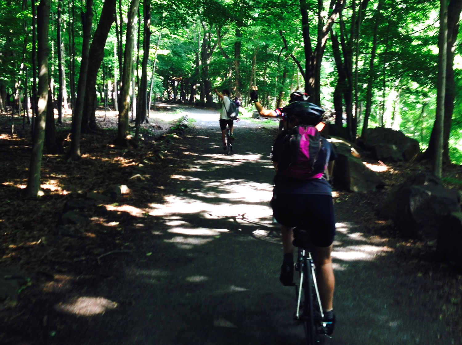 Enjoy a morning escape, fresh air, trees and of course biking!