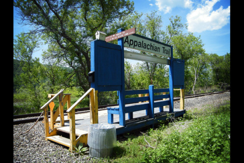 Appalachian Trail Metro North Stop. Photo from time.com