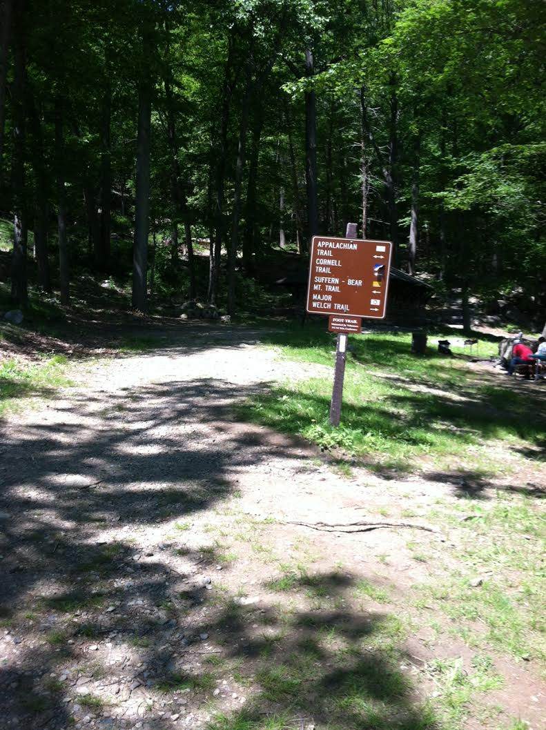 "Heading out to the trails there will be signage but make sure you can ""read"" the blazes from there."