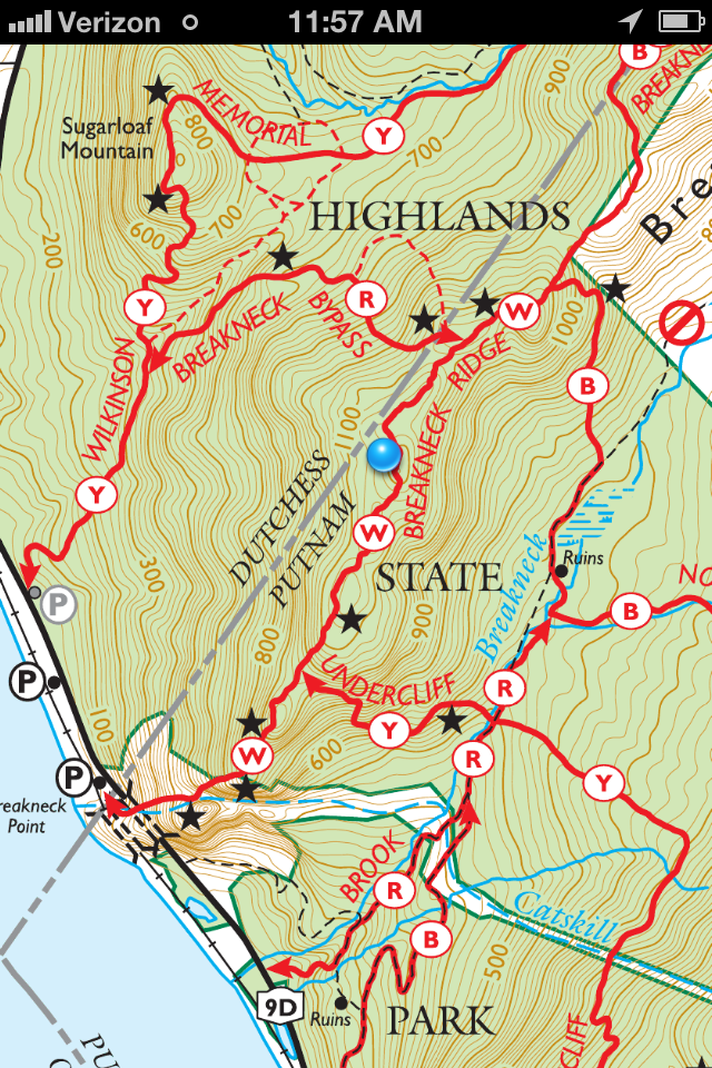 Map showing the Option B) The Breakneck Bypass CREDIT: mikebroberts.com