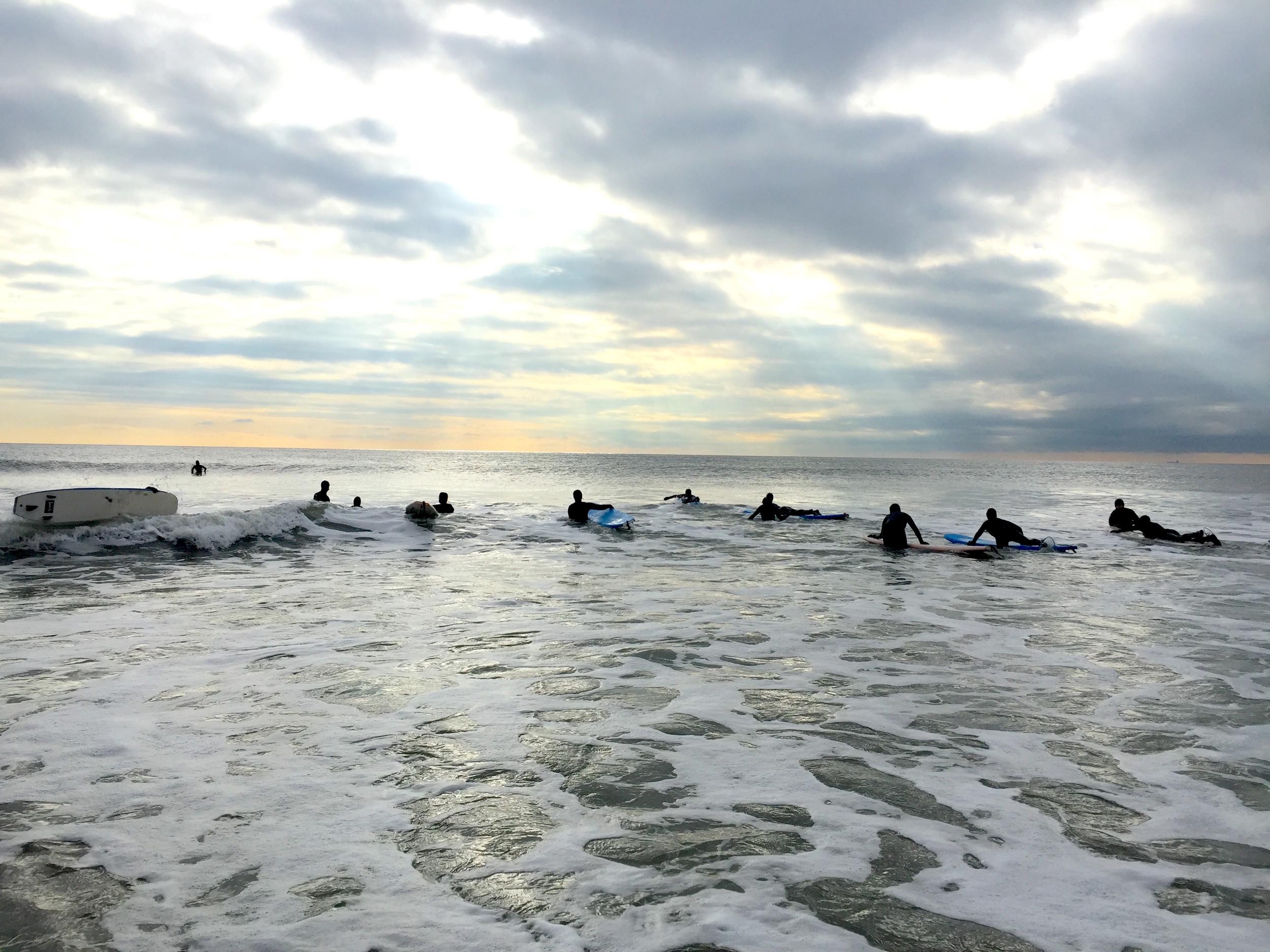 Surfing in December