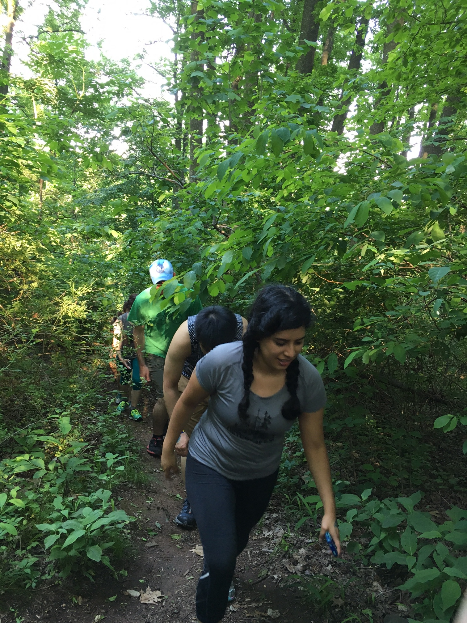 Warming up with a 5-mile hike led by the Staten Island Greenbelt Conservancy