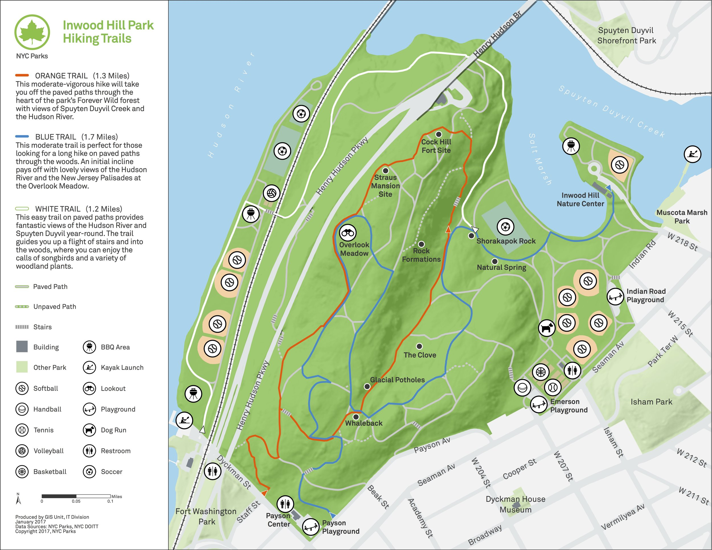 Map by NYC Parks & Rec