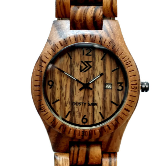 Engraved Wooden Watch | The Dusty Saw