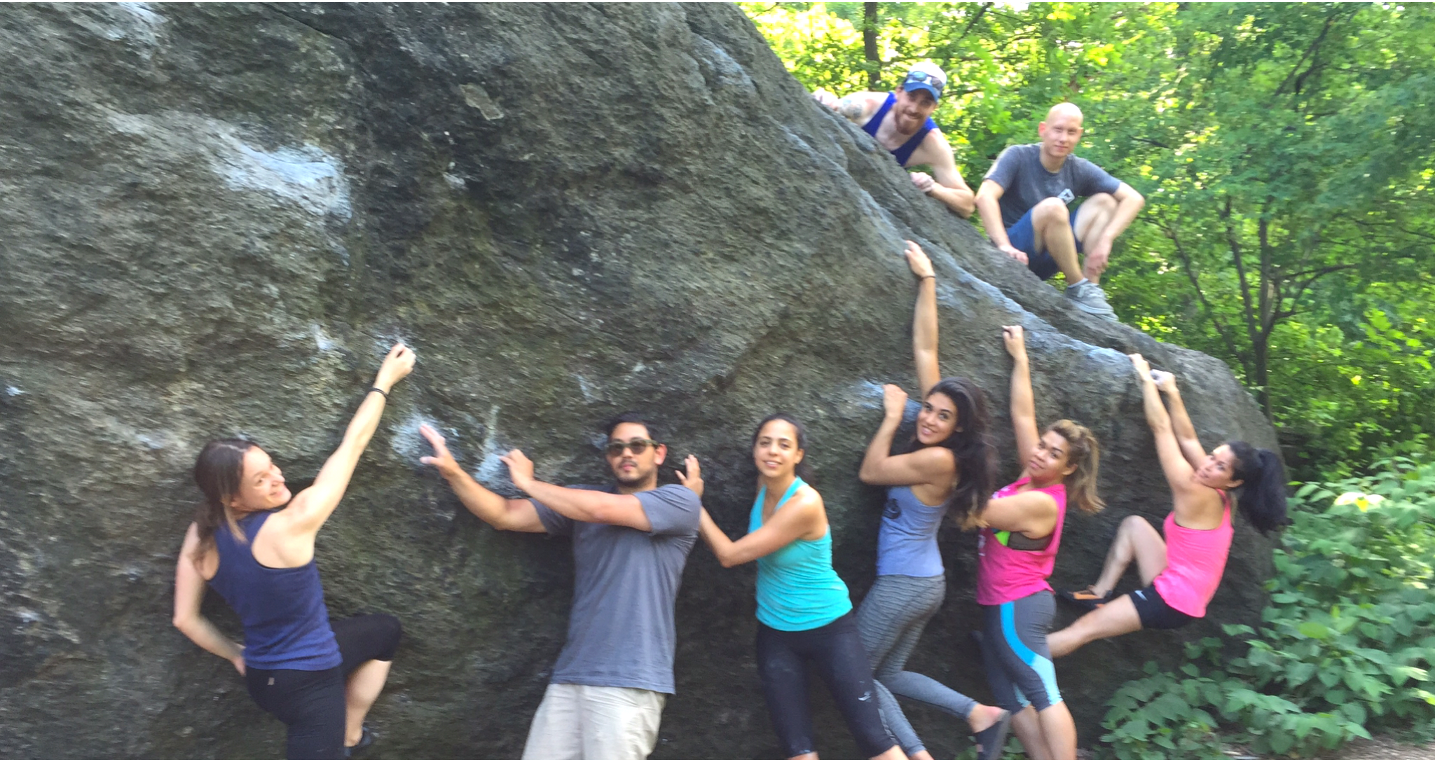 Climbing in Central Park at OutdoorFest 2015 by Tun Khine