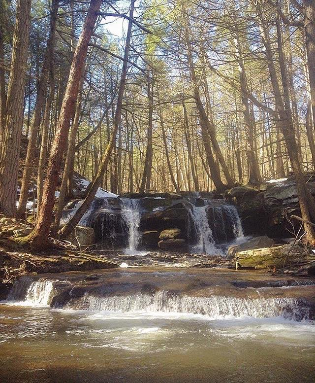 Hidden waterfalls that are only accessible by a bushwhack.