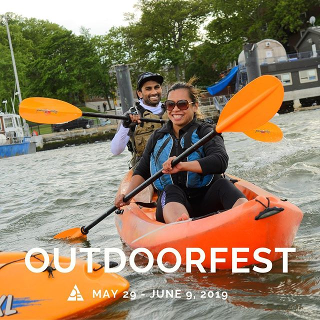 Hop in a boat in Brooklyn, bike over the George Washington Bridge, camp in Staten Island. Join us for OutdoorFest 2019 with over 20 events for *all levels* by and for New  Yorkers. • Head to the link in our bio for the full schedule featuring events with our amazing partners including: @destinationbackcountry @upstate_adventure_guides @redhookboaters @newyorkcitywild @brooklynbasecamp @manhattankayak @thecliffsdumbo @riverkeeper @hudsonriverpark @theoutdoorethos @girlgottahike @freestonexp @culturedforest @gowanusdredgers @getoutandtrek  @nycmtb @skudinsurf @lesecologyctr @themovementcreative @aaadotorg @offmetrony @popupyoganyc @sigreenbelt • We are also deeply deeply thankful for our sponsors. THANK YOU: @salomon @columbia1938 @greenmtnenergy @clifbar @enohammocks @sierranevada @nolsedu @deuter_usa • Check out all of our partners and give them a follow ^^ #outdoorfest2019 📷 @stephenelliot