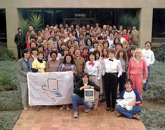 An Original Macintosh Development Team Photo