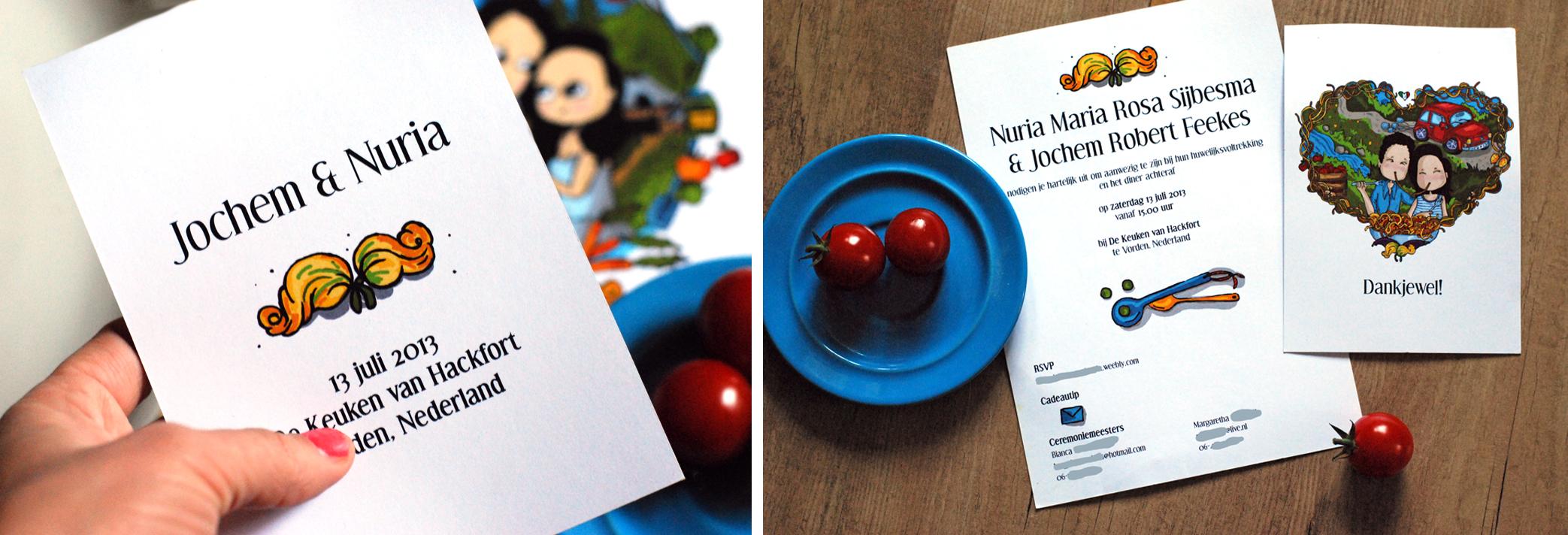 Nuria and Jochem's Thank You Cards © Anna Denise Floor