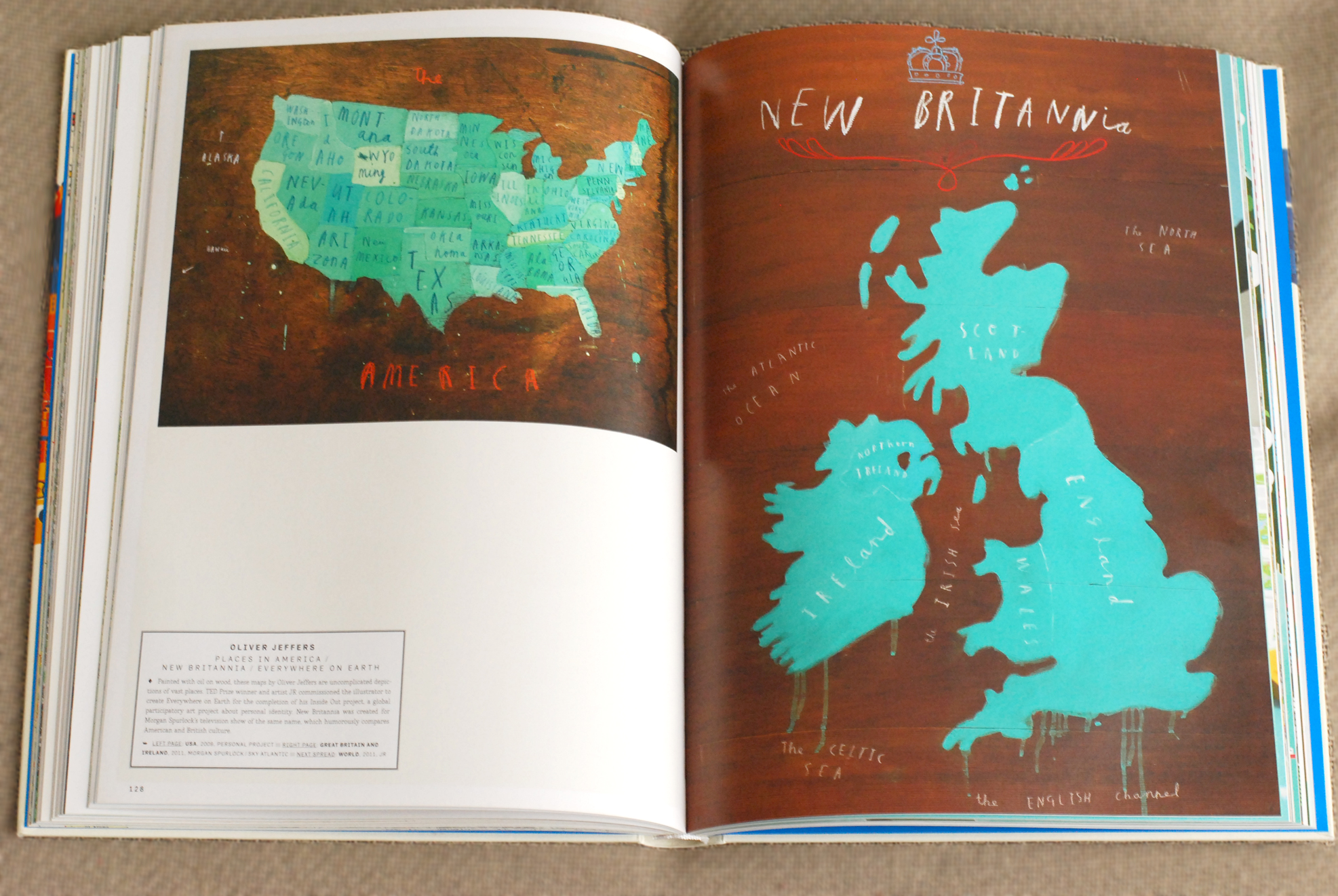 Oliver Jeffers @ A Map of the World