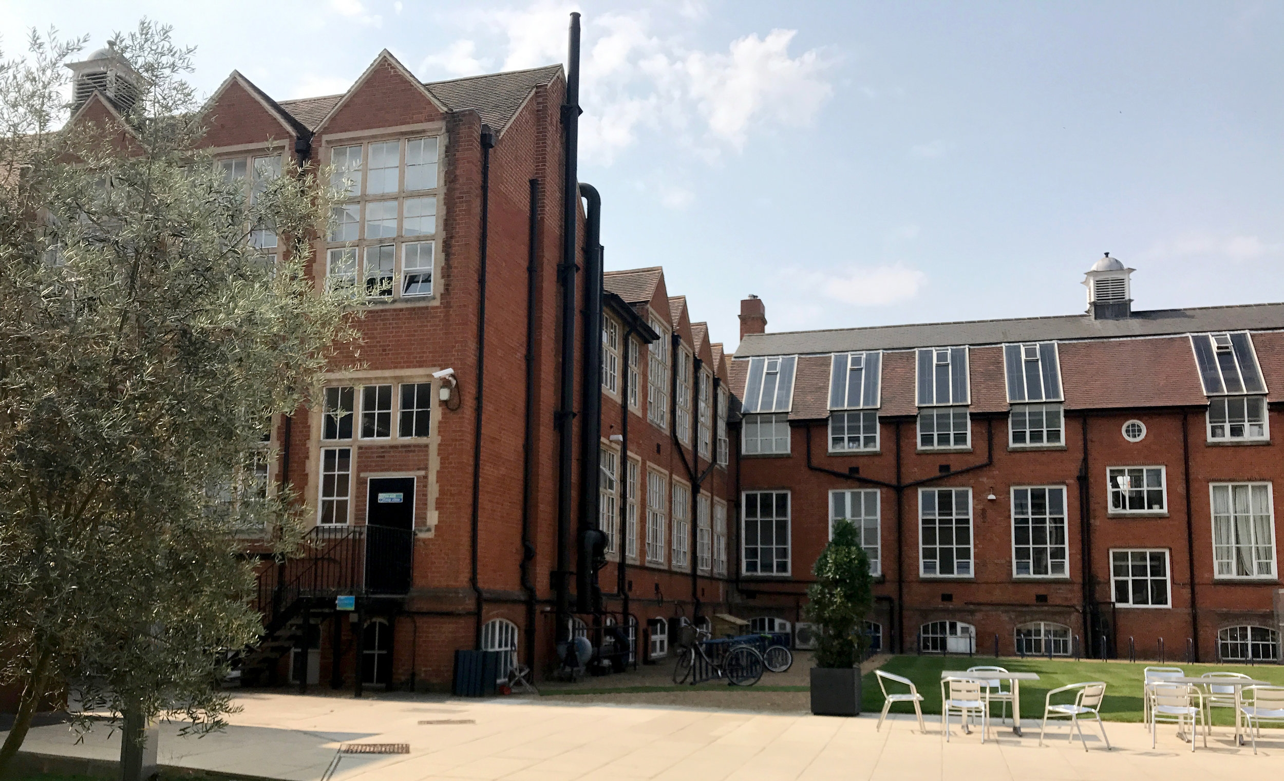 Anglia Ruskin University. Our studios were on the top floor with the big windows.