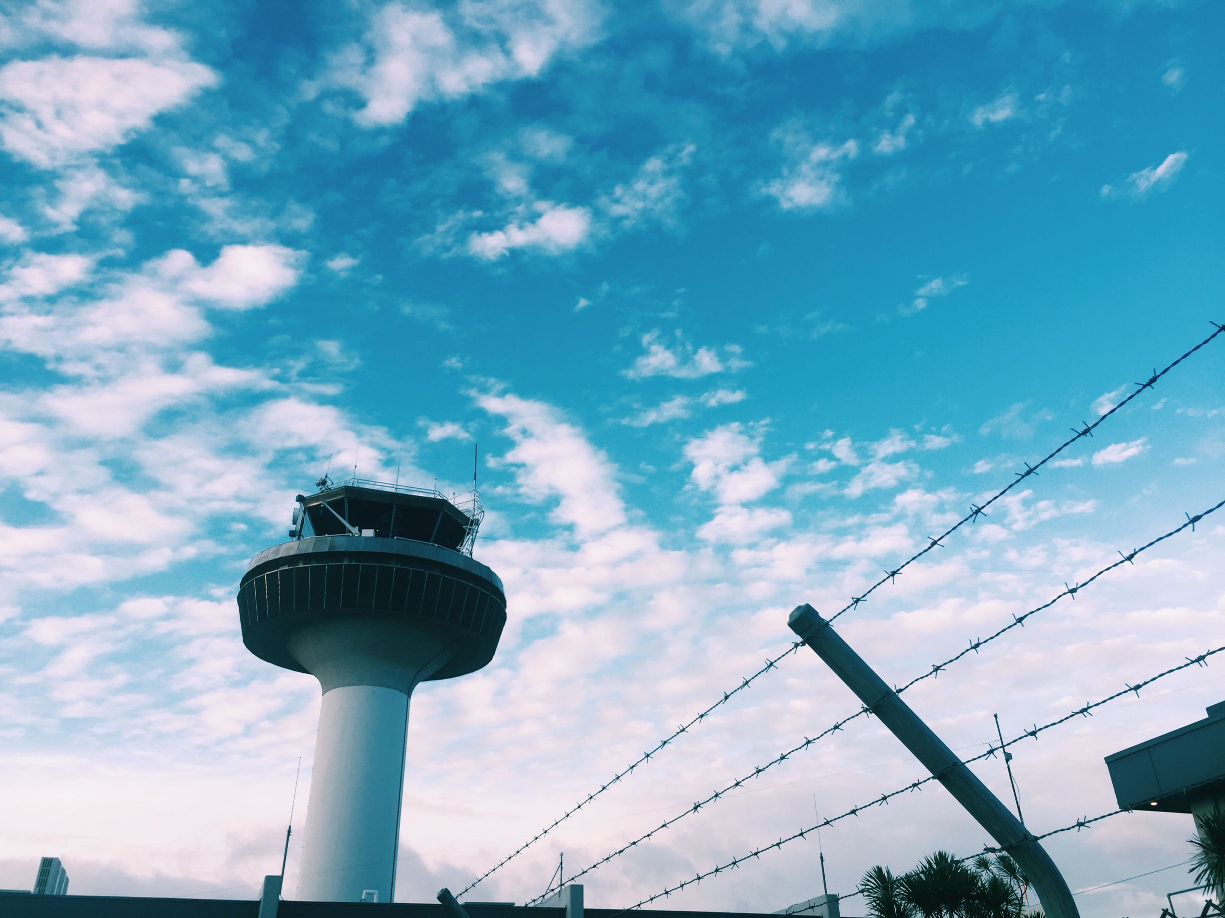 Blue skies at Auckland airport