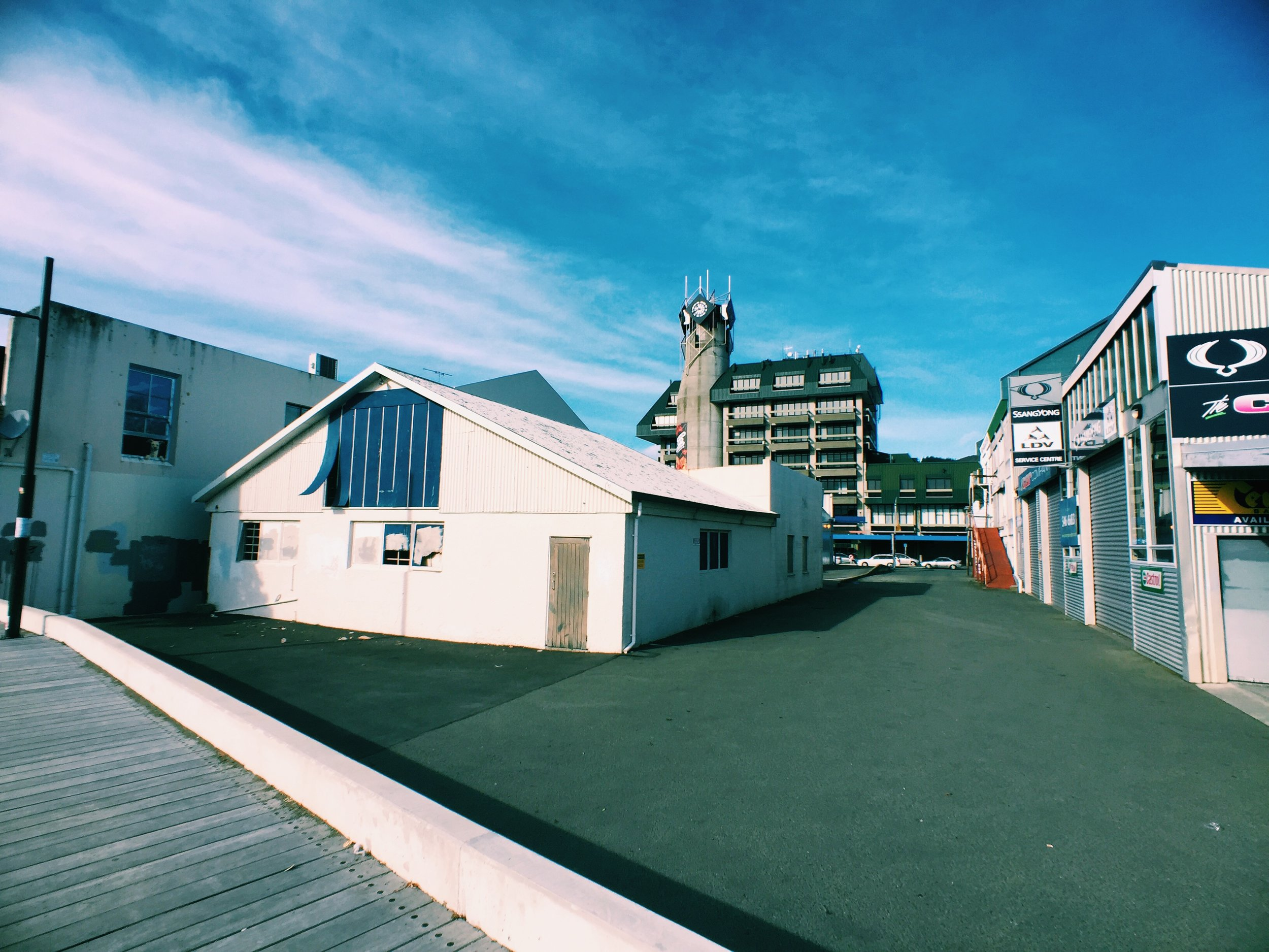 Alley way in Nelson, New Zealand