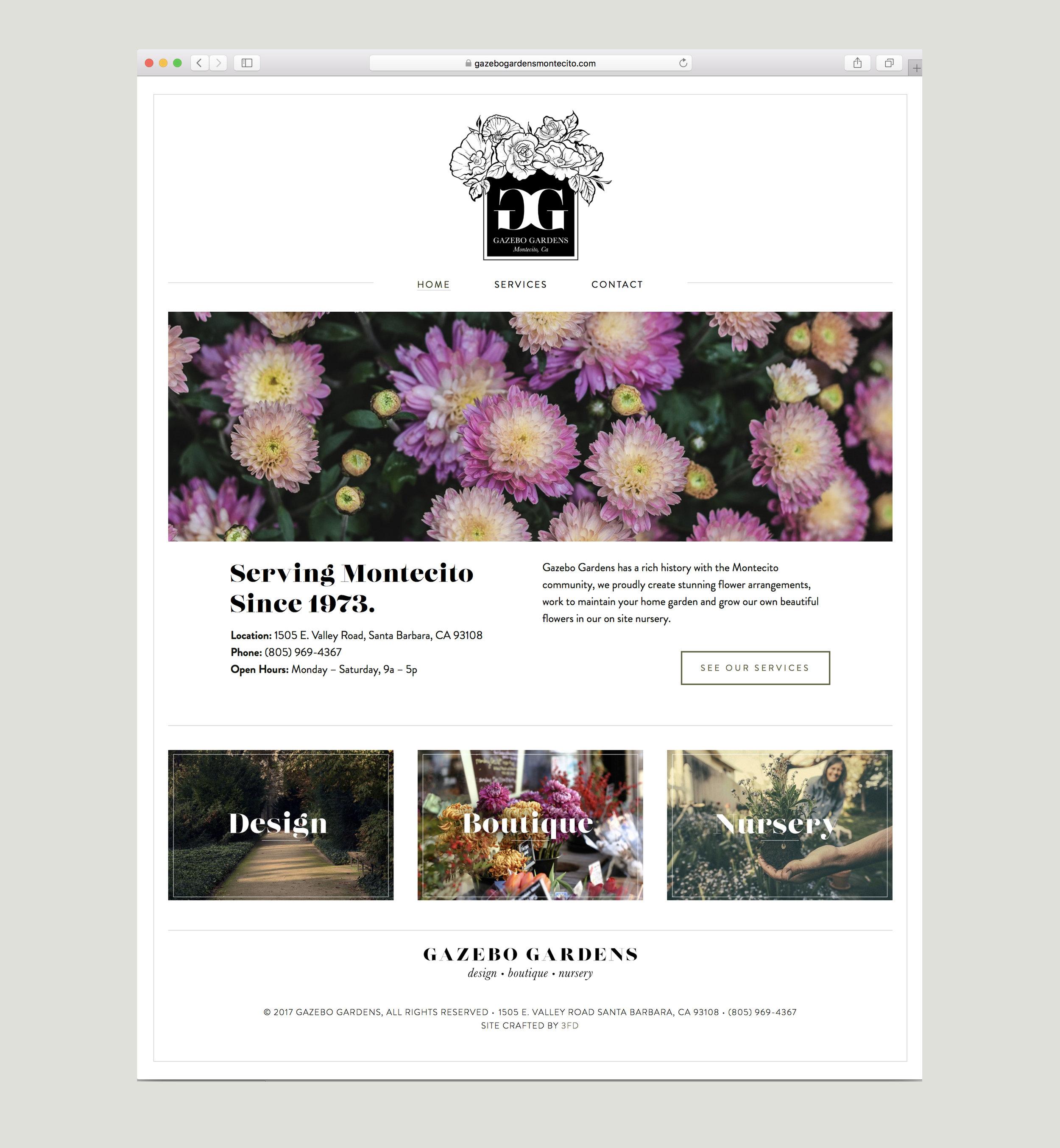 Florist website brand design