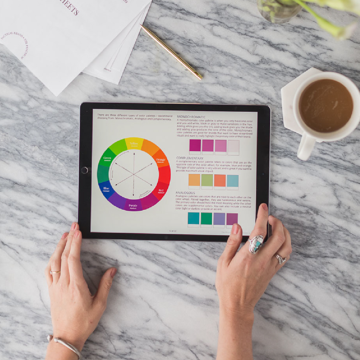 Color Guide - Struggling to choose the the right colors for your logo? Download this how to color guide and pick the right colors for your branding.